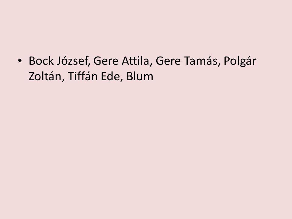 Bock József, Gere Attila, Gere Tamás, Polgár Zoltán, Tiffán Ede, Blum