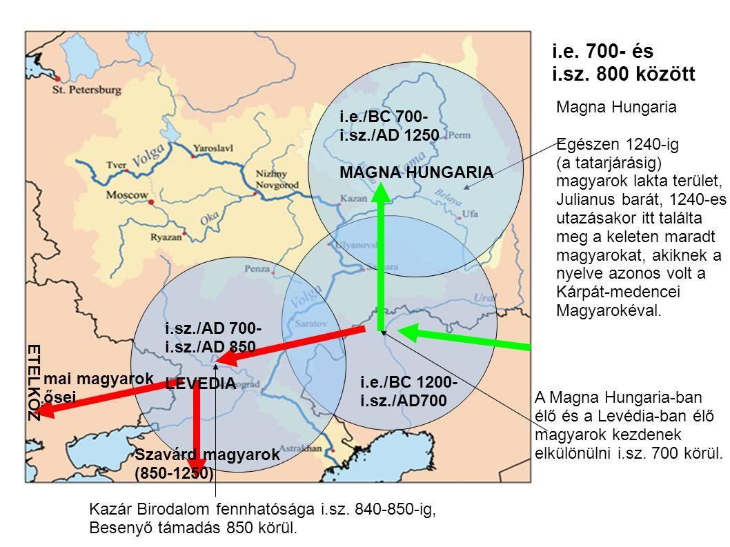 Egészen 1240-ig (a tatarjárásig) magyarok lakta terület, Julianus barát, 1240-es utazásakor itt találta meg a keleten maradt magyarokat, akiknek a nye