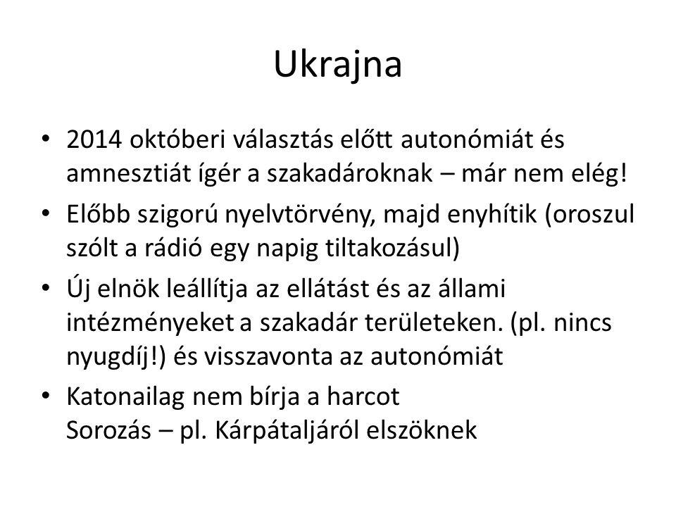 Ukrajna 2014 októberi választás előtt autonómiát és amnesztiát ígér a szakadároknak – már nem elég.