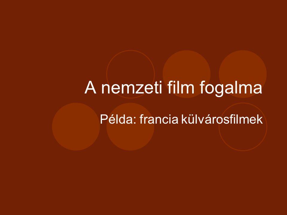 A nemzeti film fogalma Példa: francia külvárosfilmek