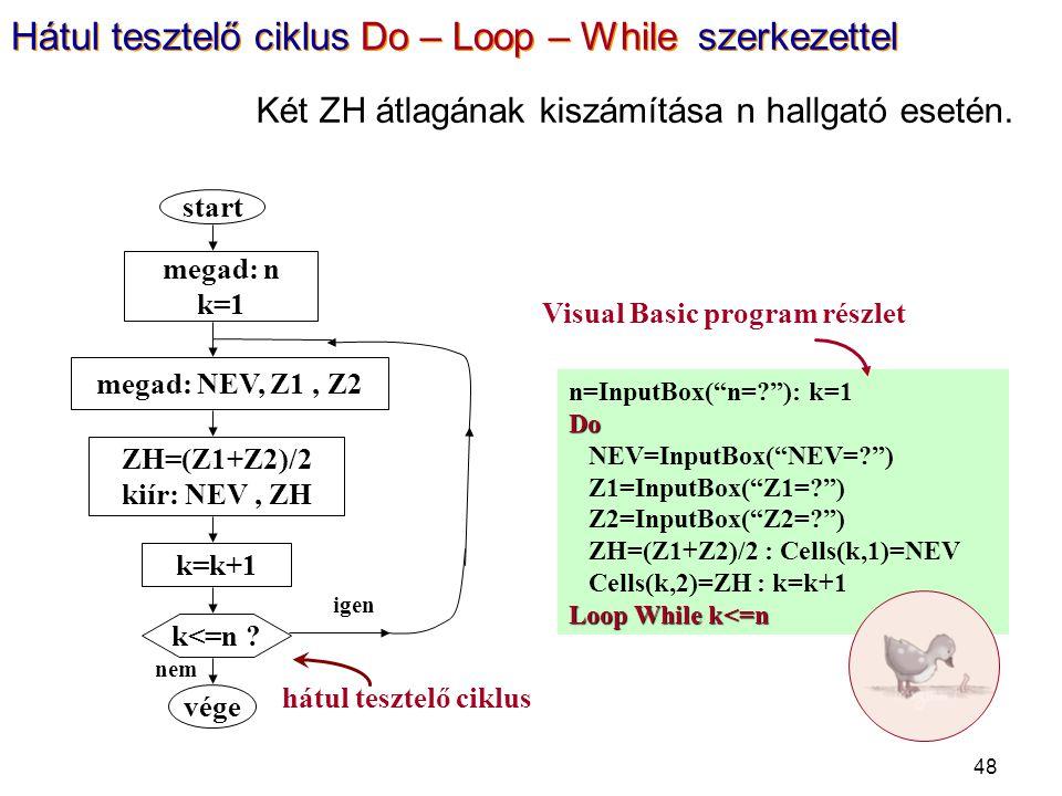 "48 n=InputBox(""n=?""): k=1Do NEV=InputBox(""NEV=?"") Z1=InputBox(""Z1=?"") Z2=InputBox(""Z2=?"") ZH=(Z1+Z2)/2 : Cells(k,1)=NEV Cells(k,2)=ZH : k=k+1 Loop Whi"