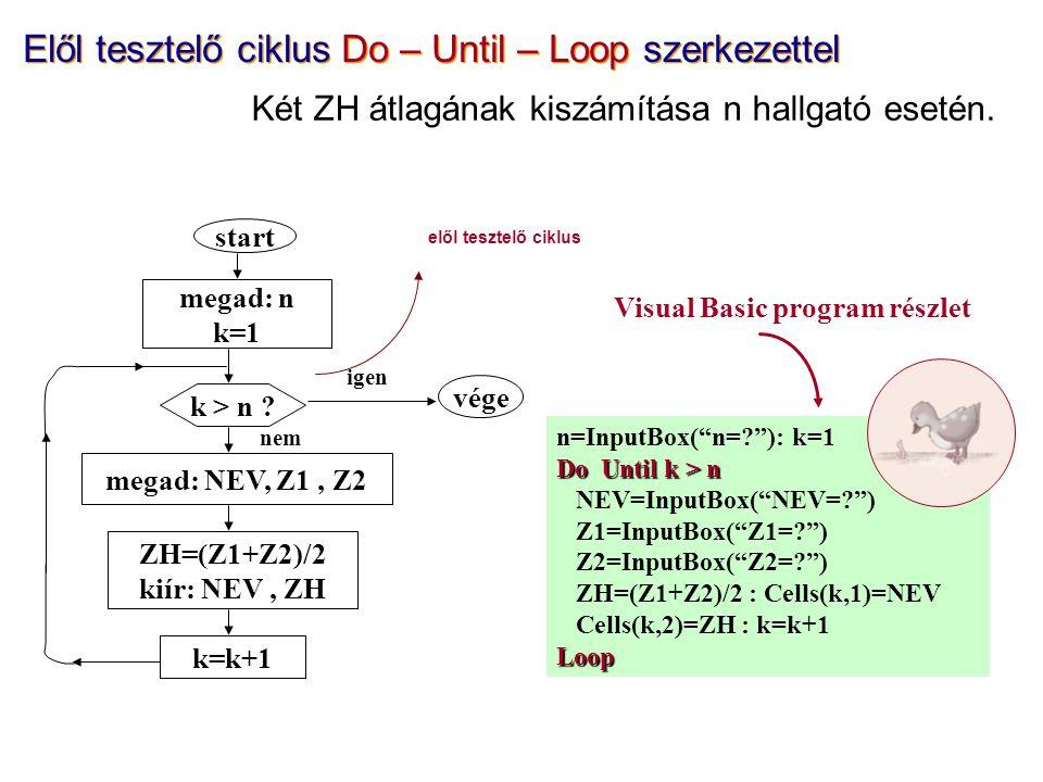"n=InputBox(""n=?""): k=1 Do Until k > n NEV=InputBox(""NEV=?"") Z1=InputBox(""Z1=?"") Z2=InputBox(""Z2=?"") ZH=(Z1+Z2)/2 : Cells(k,1)=NEV Cells(k,2)=ZH : k=k+"