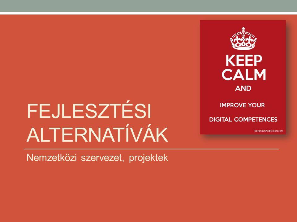 FEJLESZTÉSI ALTERNATÍVÁK Nemzetközi szervezet, projektek