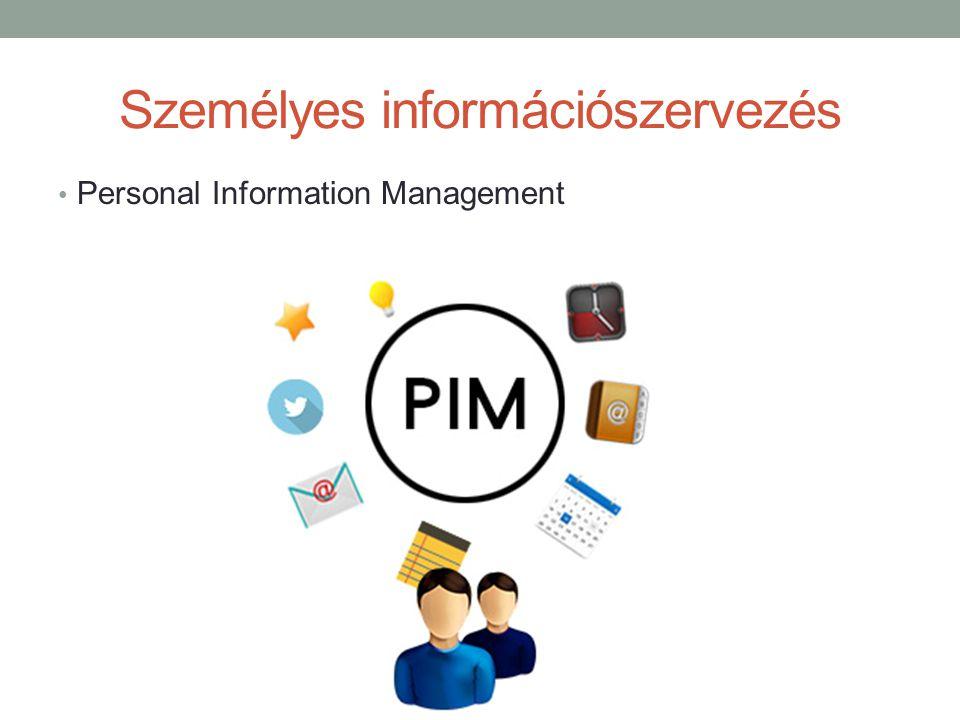 Személyes információszervezés Personal Information Management