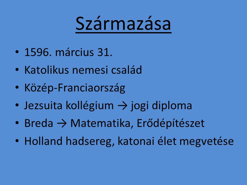 Származása 1596. március 31.
