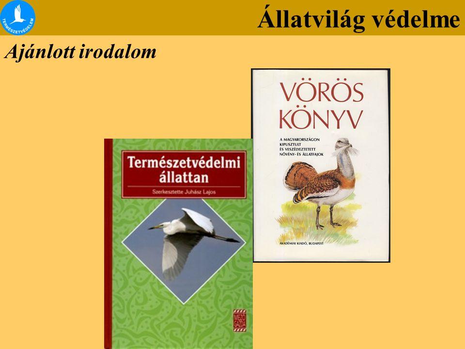 Ajánlott irodalom Állatvilág védelme