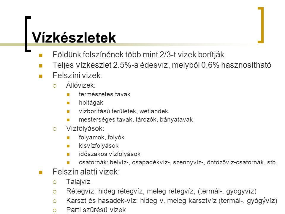 Minimális vizsgálati gyakoriság vízellátó hálózat a 201/2001. (X.25) Korm. r. alapján 57