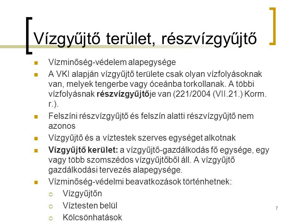 Víztest és vízgyűjtő kerület (221/2004 (VII.21.) Korm.