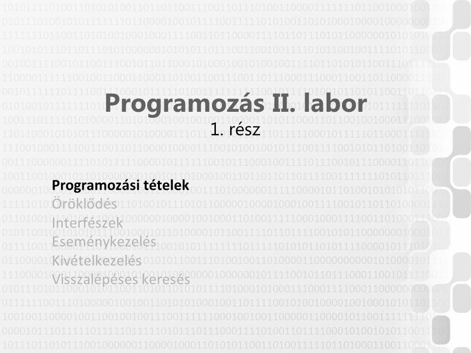 © Szénási Sándor, Óbudai Egyetem, 2015 szenasi.sandor@nik.uni-obuda.hu Típuskényszerítéssel egy objektumot úgy kezelhetünk, mintha egy másik típusú lenne –Implicit: automatikus típusátalakítás Pl.