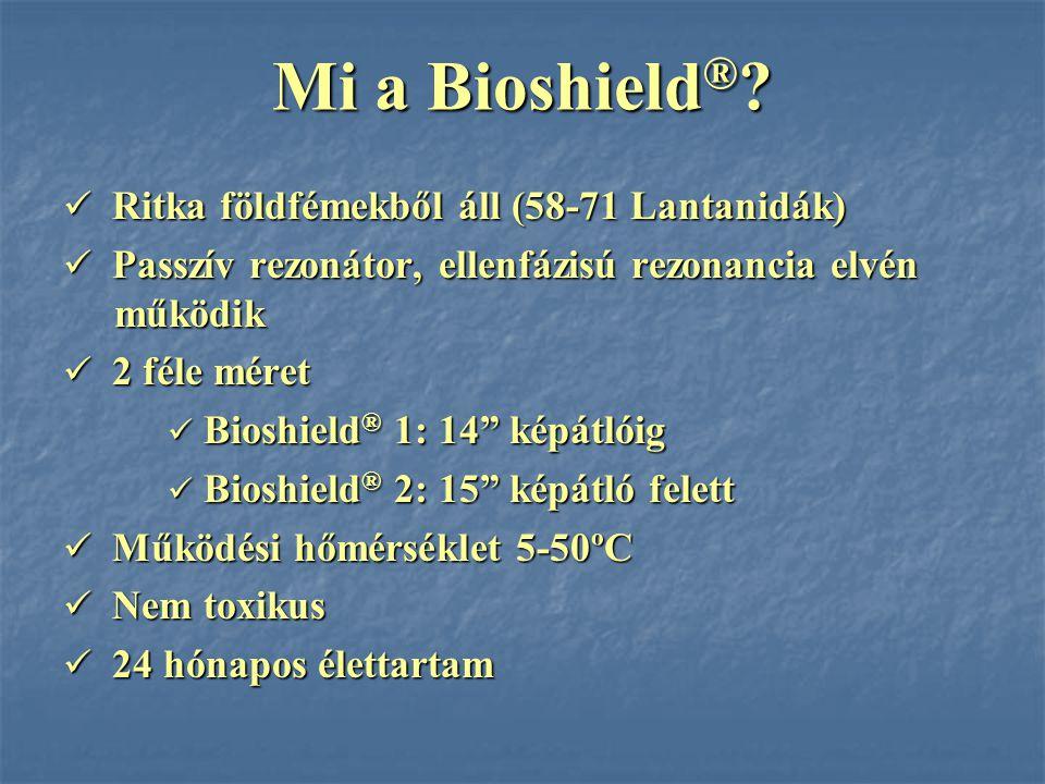 Mi a Bioshield ® ? Ritka földfémekből áll (58-71 Lantanidák) Ritka földfémekből áll (58-71 Lantanidák) Passzív rezonátor, ellenfázisú rezonancia elvén
