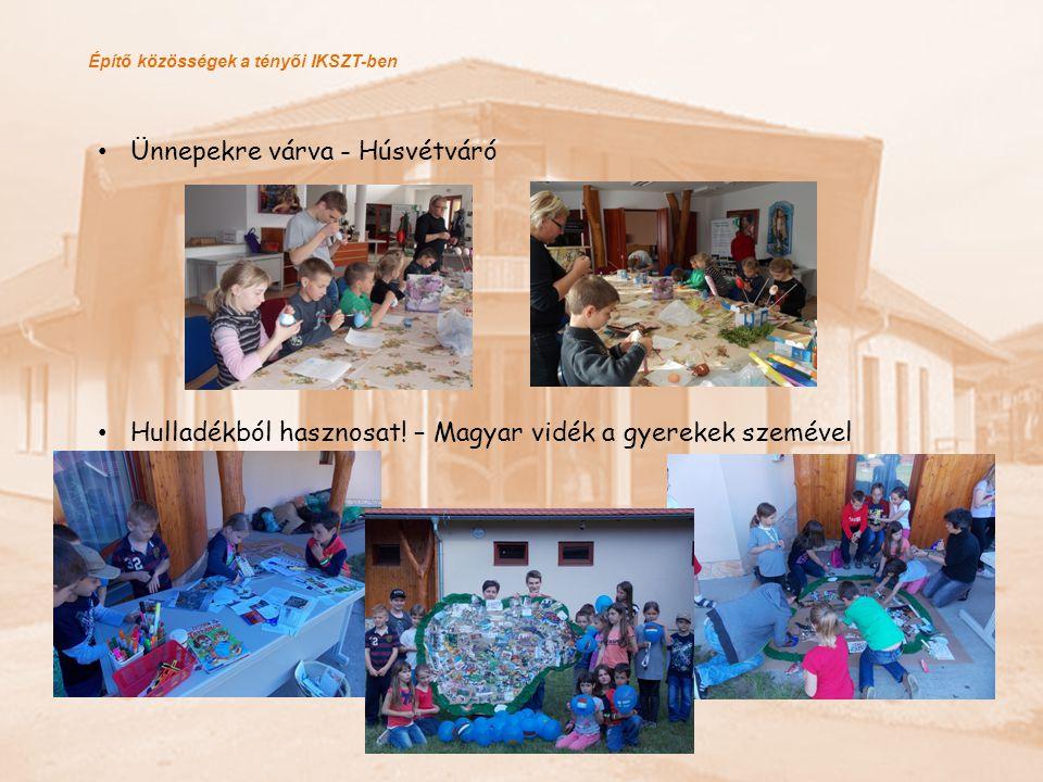 Építő közösségek a tényői IKSZT-ben Ünnepekre várva - Húsvétváró Hulladékból hasznosat! – Magyar vidék a gyerekek szemével