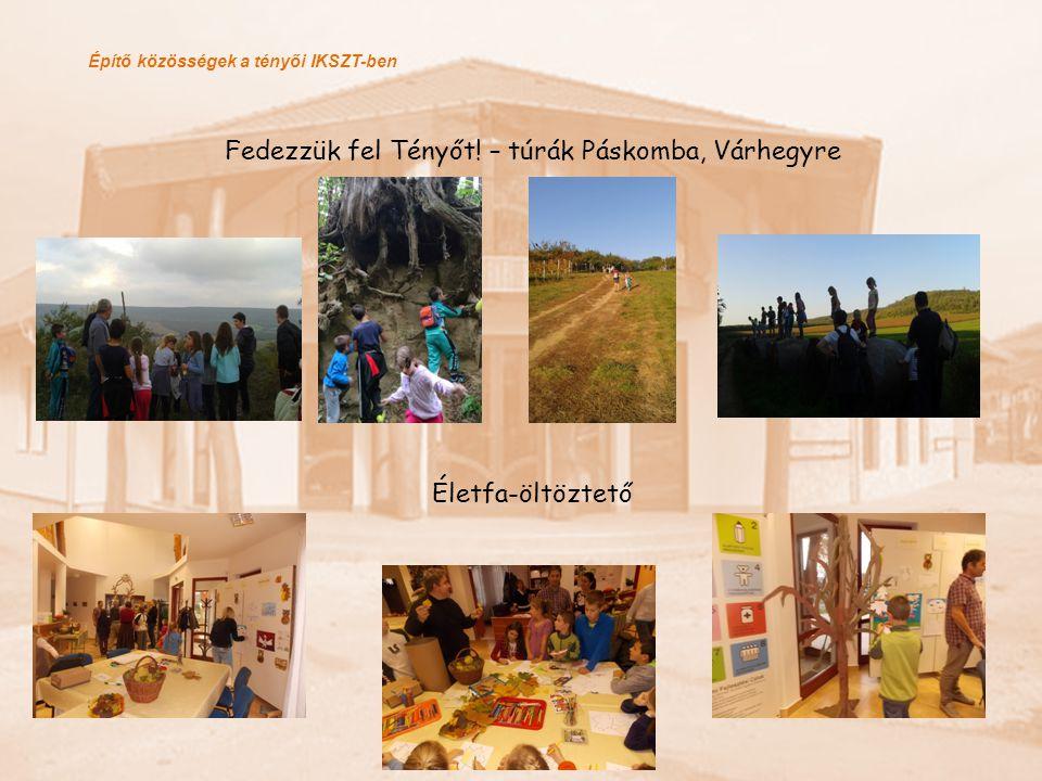 Építő közösségek a tényői IKSZT-ben Fedezzük fel Tényőt! – túrák Páskomba, Várhegyre Életfa-öltöztető