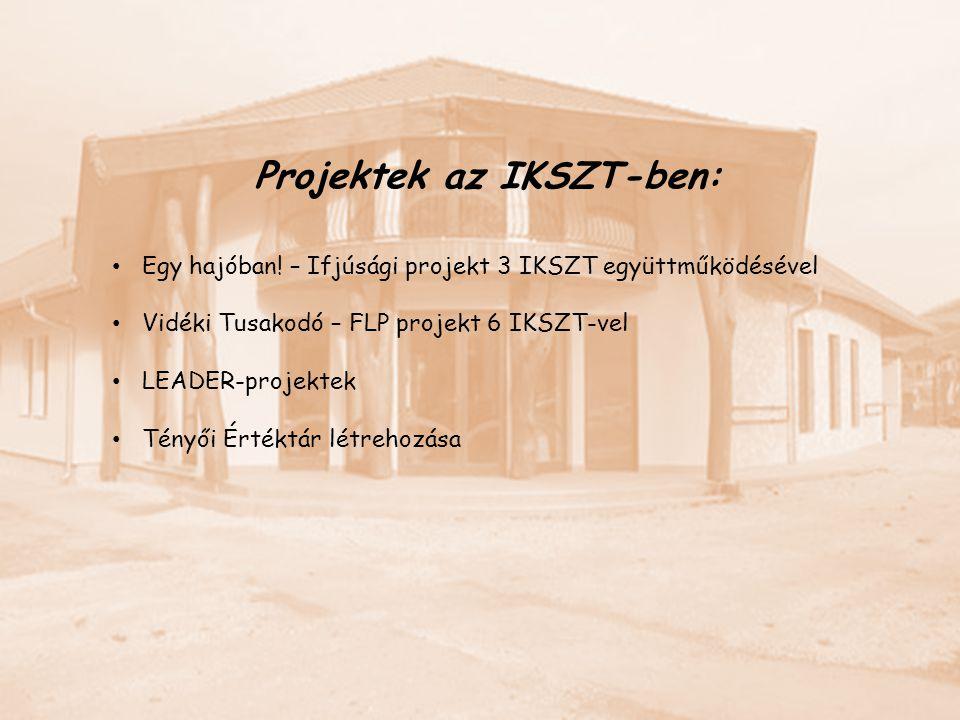 Projektek az IKSZT-ben: Egy hajóban! – Ifjúsági projekt 3 IKSZT együttműködésével Vidéki Tusakodó – FLP projekt 6 IKSZT-vel LEADER-projektek Tényői Ér