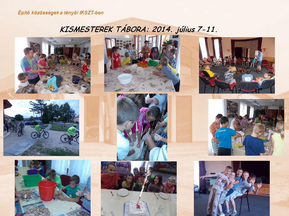 Építő közösségek a tényői IKSZT-ben KREATÍV MŰHELYFOGLALKOZÁSOK