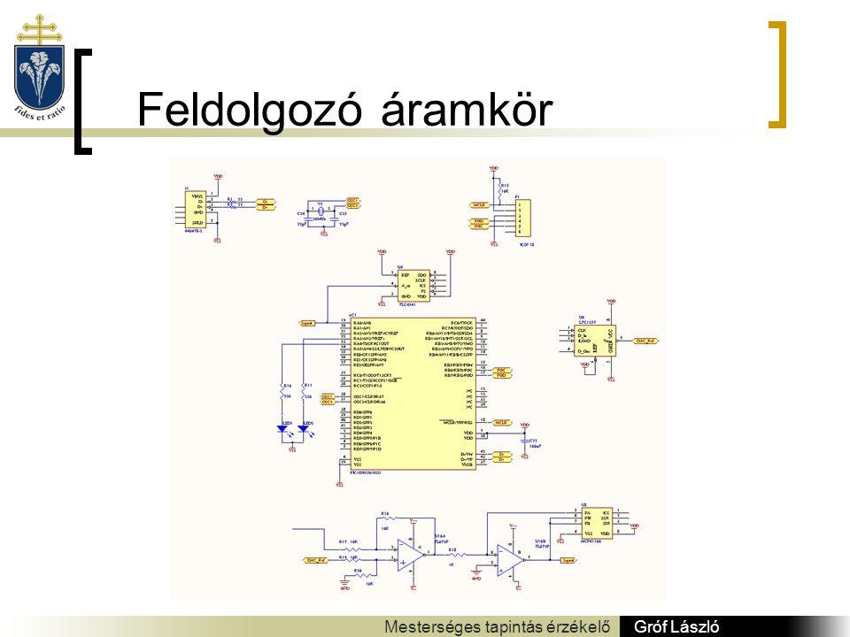 Feldolgozó áramkör Gróf László Mesterséges tapintás érzékelő