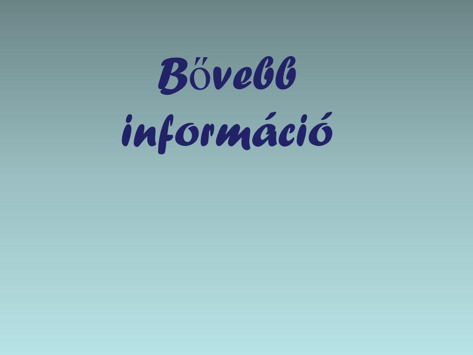 B ő vebb információ