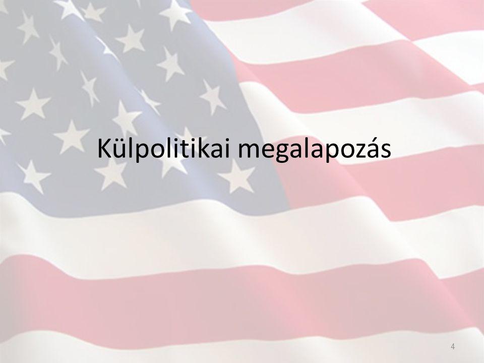 A külpolitika és a nemzetközi gazdaságpolitika összefonódása Clinton (1993-2001) Bush (2001-2009) Obama (2009- ) Kozmopolita-liberális Nemzetközi alkalmazkodás A leginkább nemzetköziesedett csoportok hosszabb távú érdekei Nemzetközi versenyképesség erősítése Konzervatív gazdasági, társadalmi, vallási, politikai eszmék A világot két csoportra osztja Közeli kapcsolata az olajérdekeltségekkel és katonai-ipari komplexumokkal USA hatalmát maximalizálva érvényesíteni  Liberális szemlélet  Tükrüzi a globalizáció korát  Konzervatív, kockázatkerülő külpolitika (nem sürgeti a grúz NATO tagságot, amerikai csapatok csökkentése Irakban, fogolytáborok megszüntetése…stb) 5