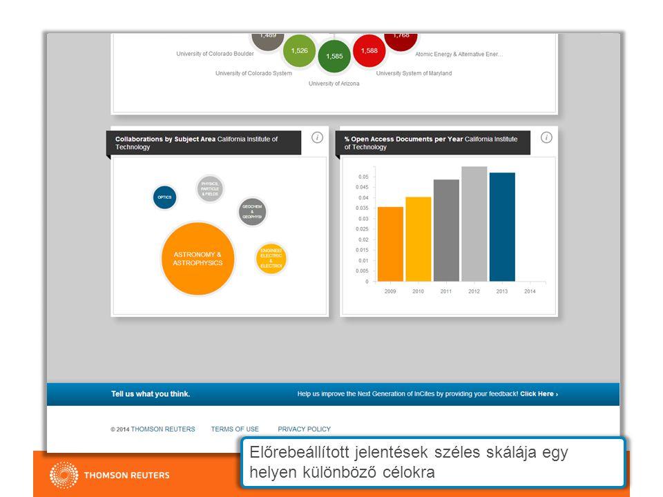 Kutatók, intézmények, régiók, tudományterületek, folyóiratok elemzése EXPLORE