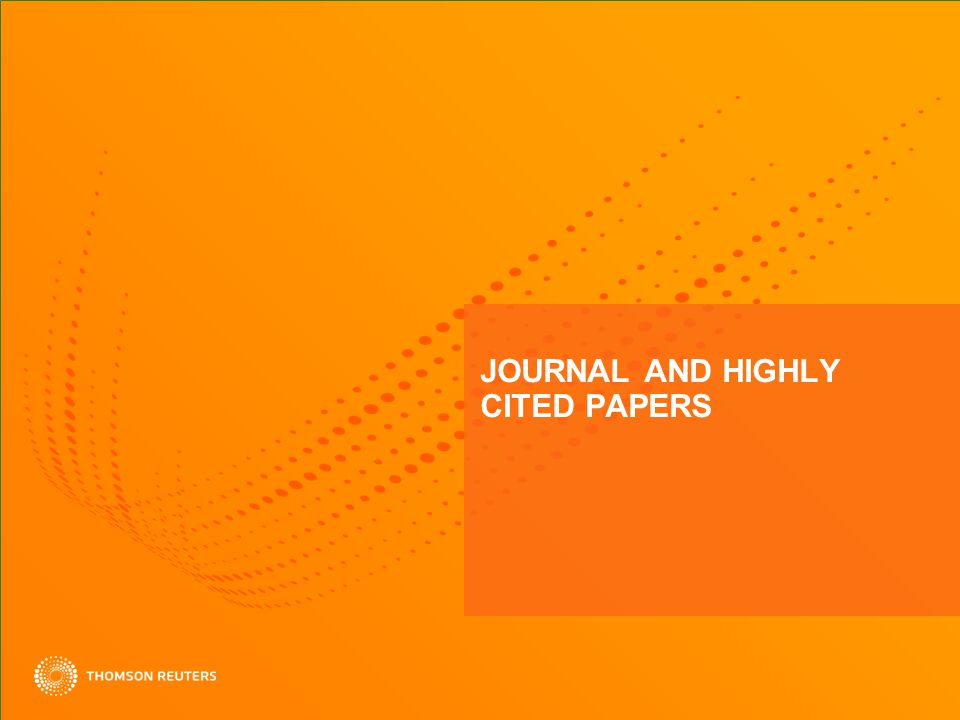 JOURNAL AND HIGHLY CITED PAPERS