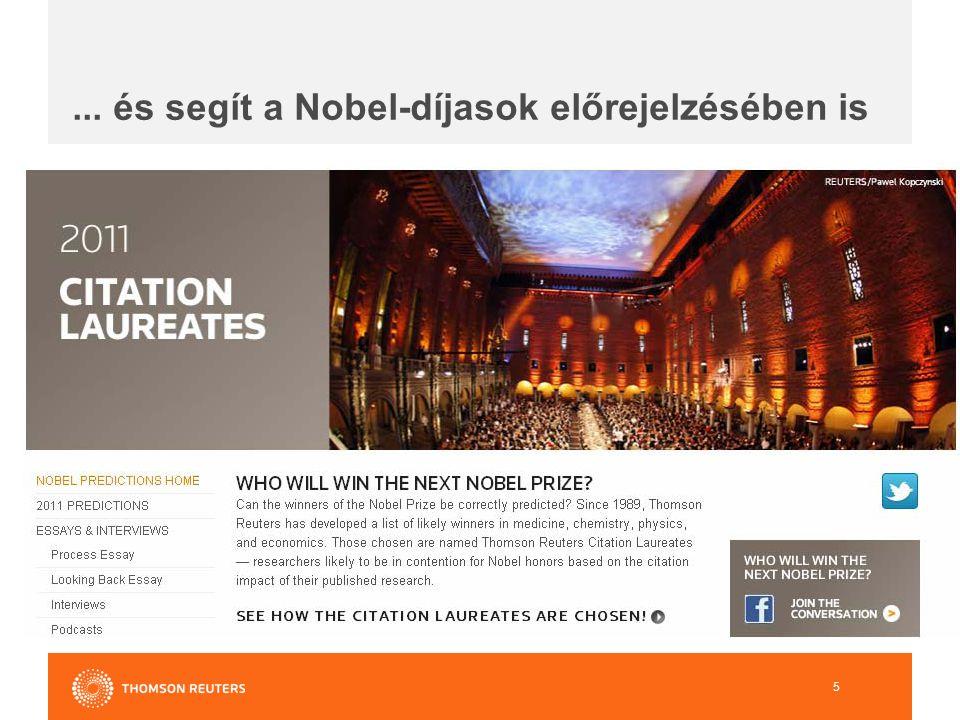 ... és segít a Nobel-díjasok előrejelzésében is 5