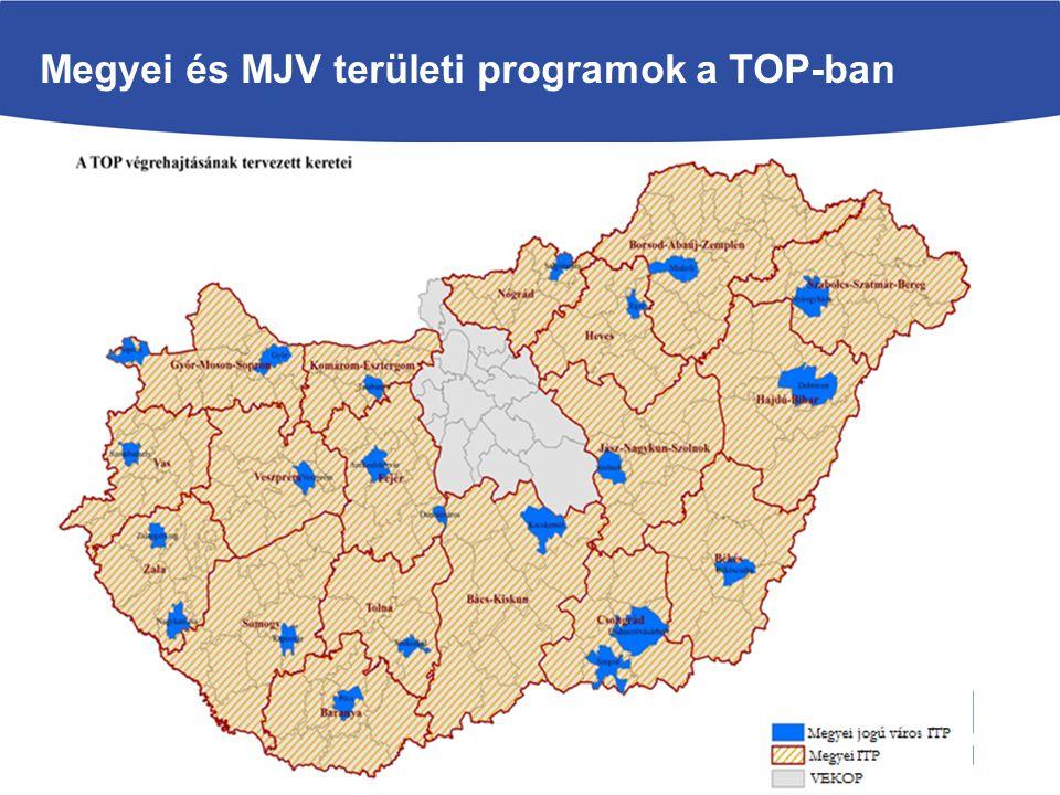 Megyei és MJV területi programok a TOP-ban