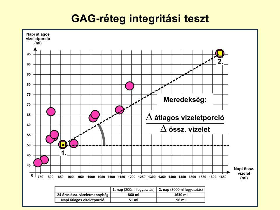 GAG-réteg integritási teszt 2 x 24 órás vizelési napló