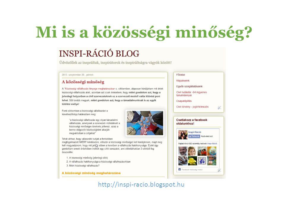 Mi is a közösségi minőség? http://inspi-racio.blogspot.hu