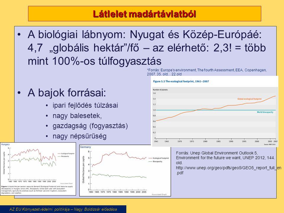 """IPCC szcenáriók, a klímaváltozás """"jóslatai és azok alapja AZ EU Környezetvédelmi politikája – Nagy Boldizsár előadása Forgatókönyvek: A1: nagyon gyors növekedés A1FI: döntősen fosszilis Eforrás A1B: fosszilis és alternatív Eforrás A1T: több alternatív > A1B A2: egyenlőtlen növekedés globális megosztottság miatt B1: posztindusztriális növekedés+ globális környezeti tudatosság B2:lokális fenntarthatóságra törekvés (egyenlőtlen fejlődés) Lehetséges pol-i, gazd-i, demogr-i, szociális változások a következő 100 évben CO 2, metán, erdőterület-csökkenés, stb."""
