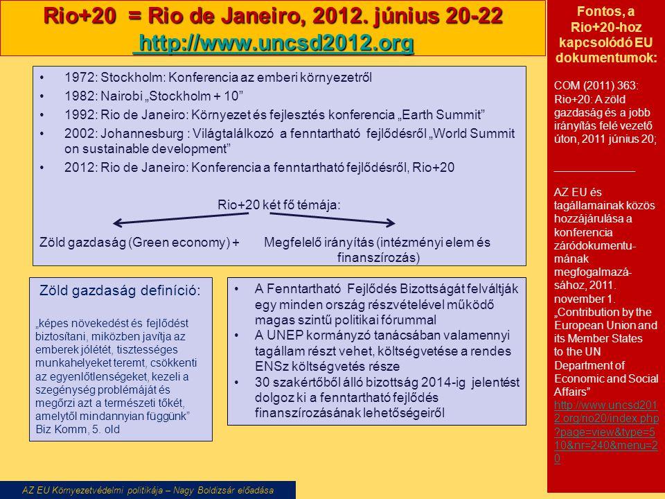 Rio+20 = Rio de Janeiro, 2012.
