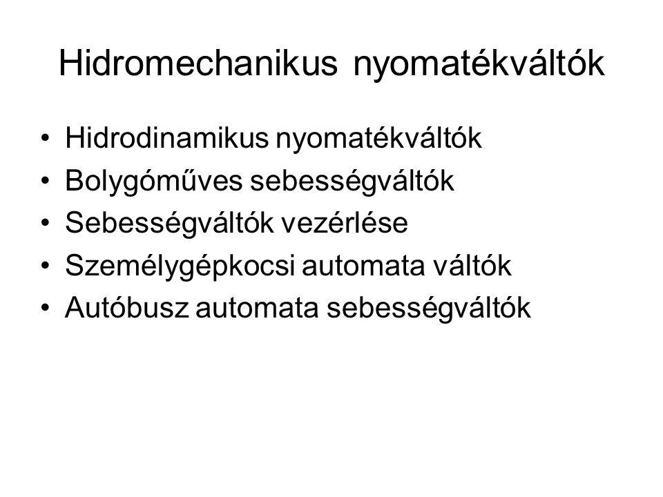 Hidrodinamikus tengelykapcsoló Dr. Lévai Zoltán prof. Emeritus BME Gépjárművek tanszék grafikája