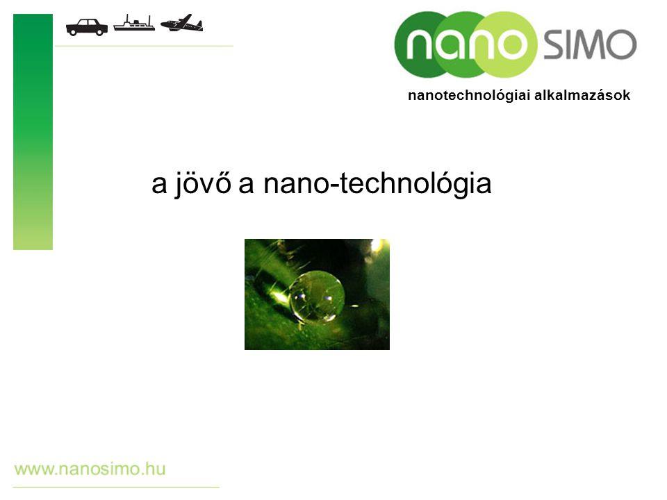 a jövő a nano-technológia nanotechnológiai alkalmazások