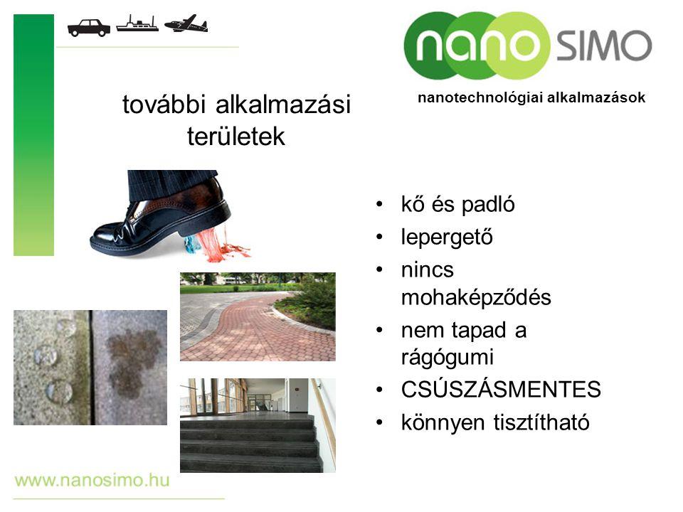 kő és padló lepergető nincs mohaképződés nem tapad a rágógumi CSÚSZÁSMENTES könnyen tisztítható további alkalmazási területek nanotechnológiai alkalma