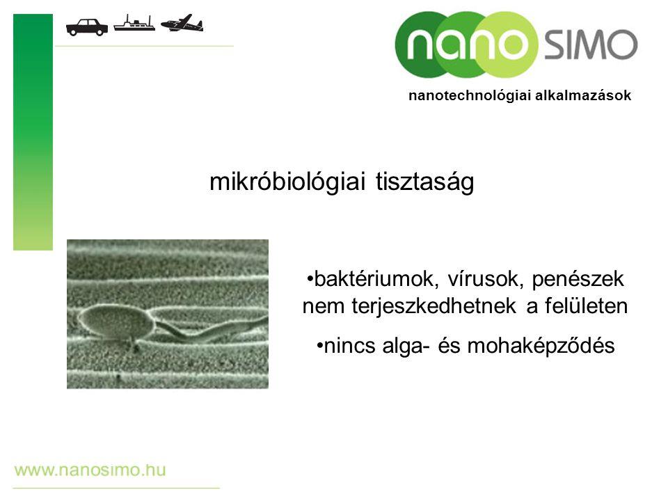 nanotechnológiai tisztítószerek nanotechnológiai alkalmazások