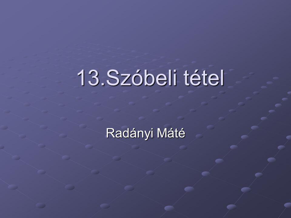 13.Szóbeli tétel Radányi Máté