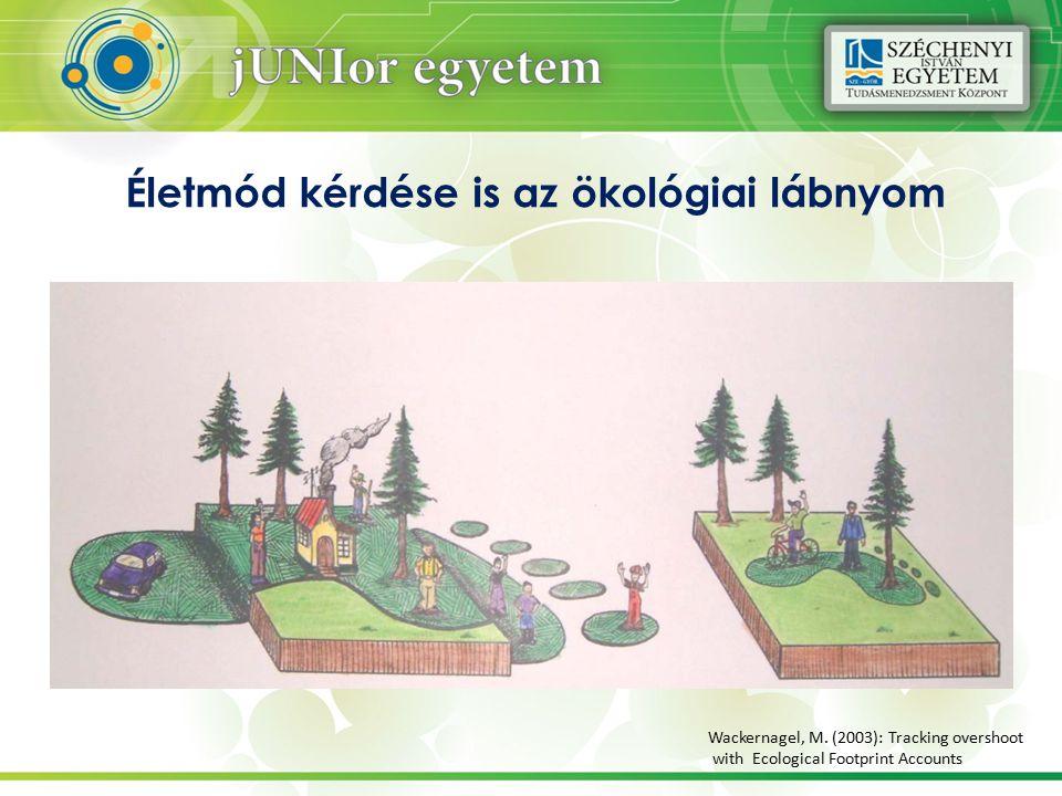 Életmód kérdése is az ökológiai lábnyom Wackernagel, M.