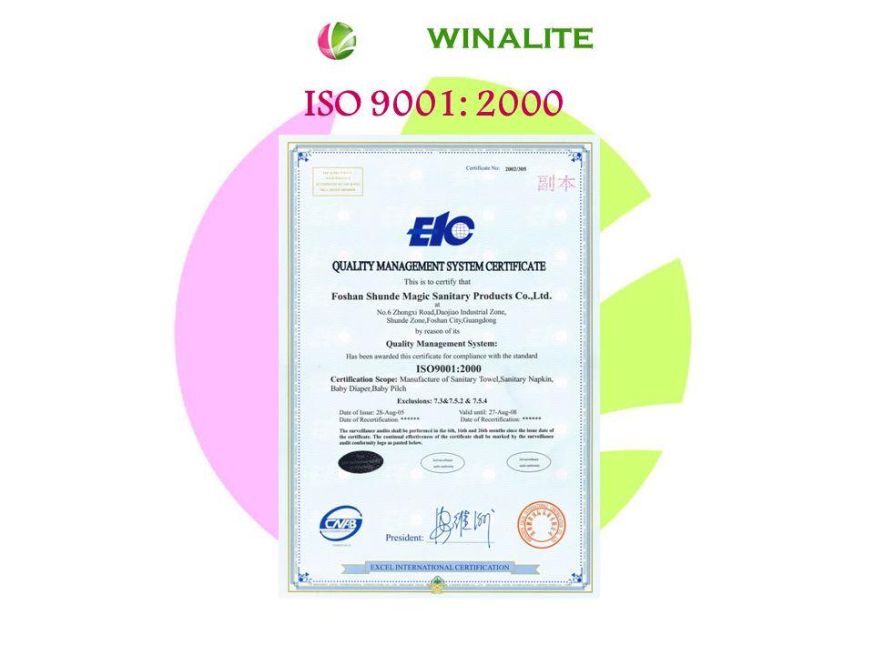 ISO 9001: 2000 WINALITE
