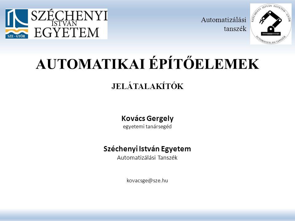 Villamos Jelátalakítók Automatizálási tanszék 3.25.