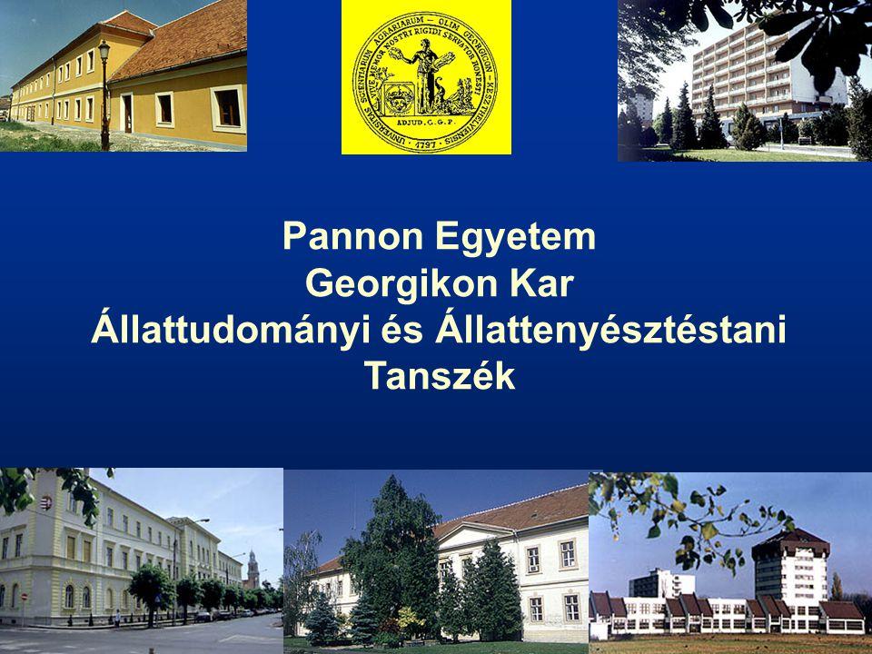 Pannon Egyetem Georgikon Kar Állattudományi és Állattenyésztéstani Tanszék