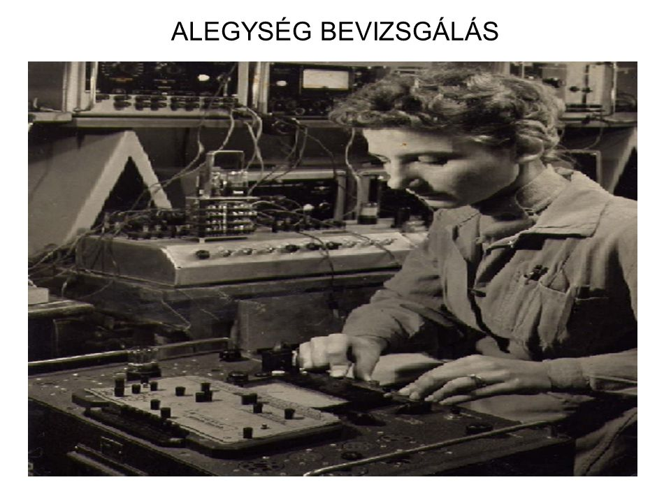 ALEGYSÉG BEVIZSGÁLÁS