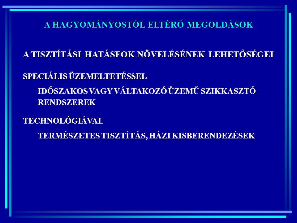 A HAGYOMÁNYOSTÓL ELTÉRŐ MEGOLDÁSOK RECIRKULÁCIÓS HOMOKSZŰRŐ