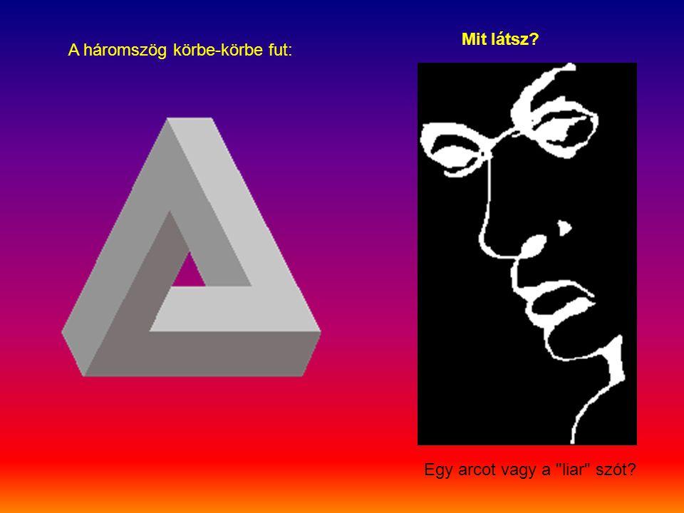 A háromszög körbe-körbe fut: Mit látsz? Egy arcot vagy a liar szót?