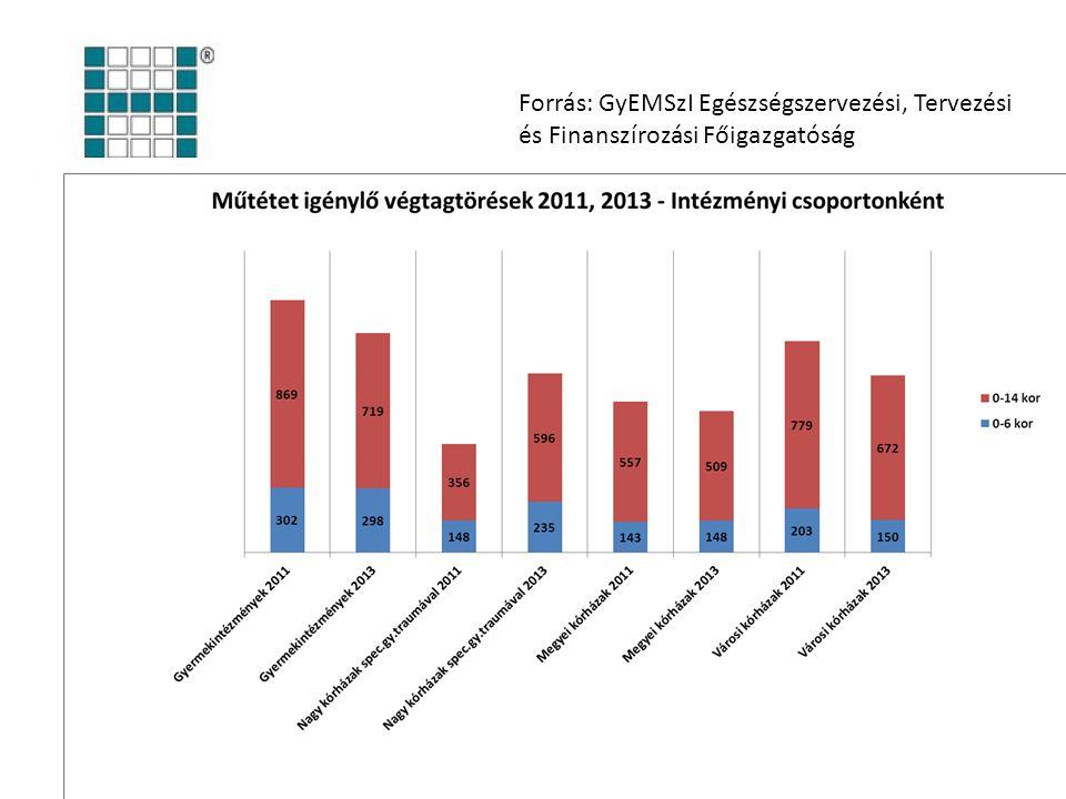 Forrás: GyEMSzI Egészségszervezési, Tervezési és Finanszírozási Főigazgatóság
