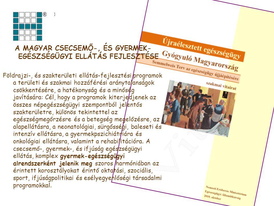 A gyermekek sürgősségi ellátása Szervezés Működés Finanszírozás