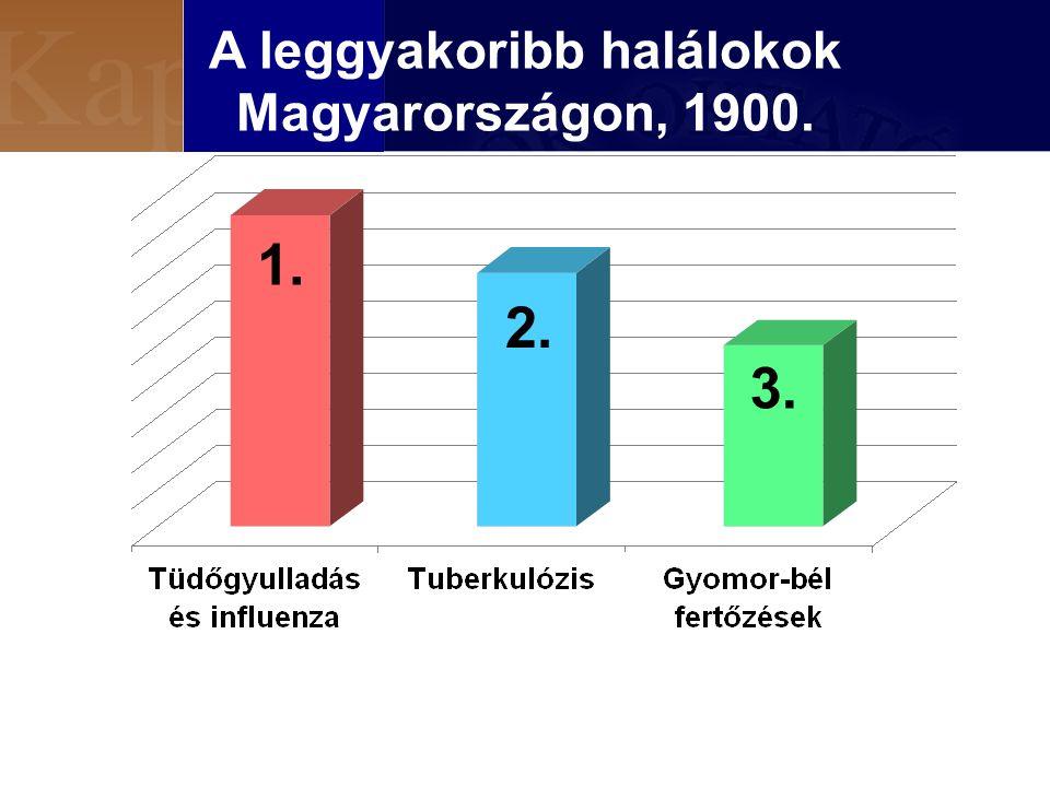 A leggyakoribb halálokok Magyarországon, 1900. 2. 3. 1.