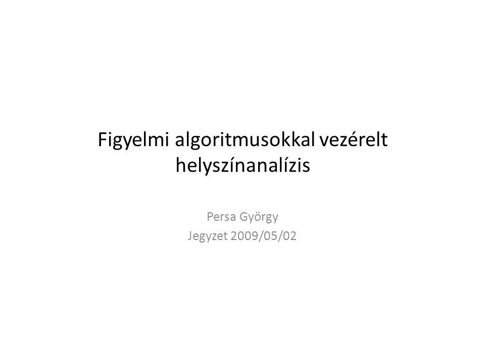 Figyelmi algoritmusokkal vezérelt helyszínanalízis Persa György Jegyzet 2009/05/02