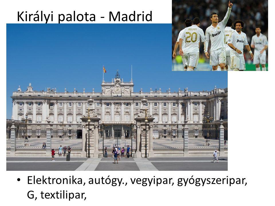 Királyi palota - Madrid Elektronika, autógy., vegyipar, gyógyszeripar, G, textilipar,