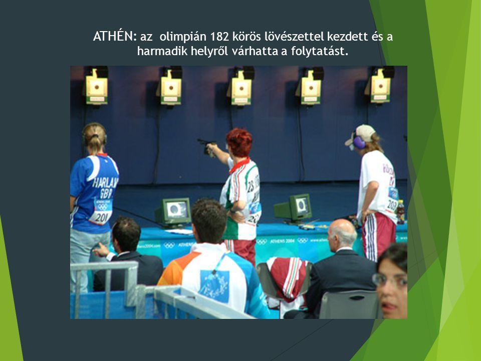ATHÉN: az olimpián 182 körös lövészettel kezdett és a harmadik helyről várhatta a folytatást.