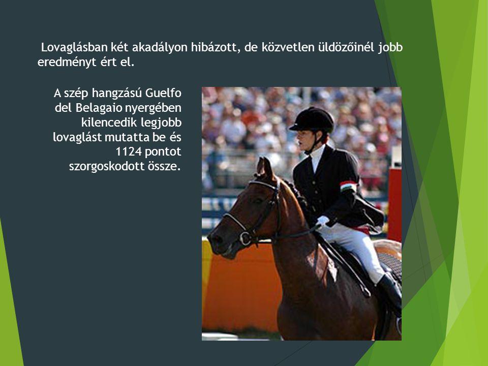 A szép hangzású Guelfo del Belagaio nyergében kilencedik legjobb lovaglást mutatta be és 1124 pontot szorgoskodott össze.