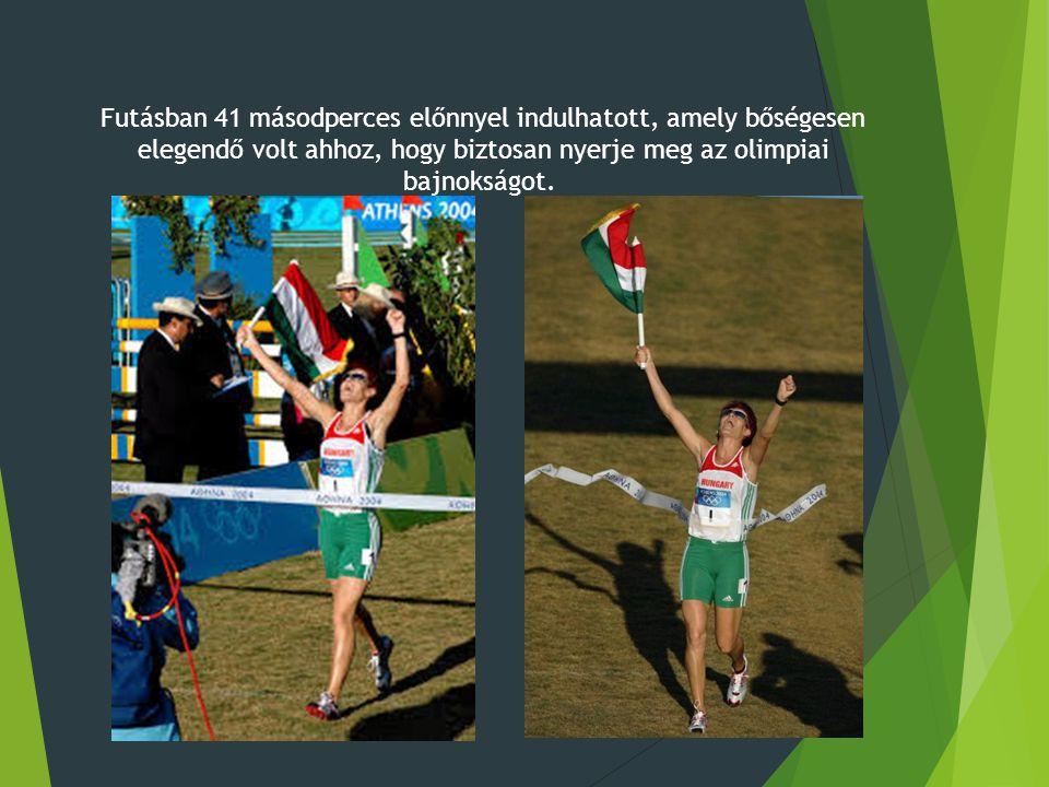Futásban 41 másodperces előnnyel indulhatott, amely bőségesen elegendő volt ahhoz, hogy biztosan nyerje meg az olimpiai bajnokságot.