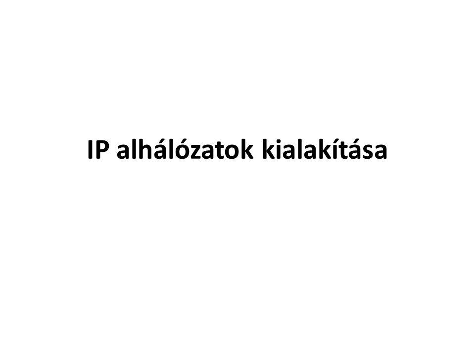 Az IPv4 alhálózatok egy vagy több állomásbit hálózati bitként való értelmezésével keletkeznek Ez a maszk kiegészítésével történik, kibővítve a cím hálózati részét az állomás részéből kölcsönvett bitekkel.